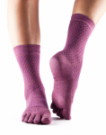 ToeSox Casual Crew in Fishnet Luscious